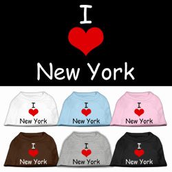 I Love New York Screen Print Pet Shirts