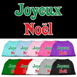 Joyeux Noel Screen Print Pet Shirts