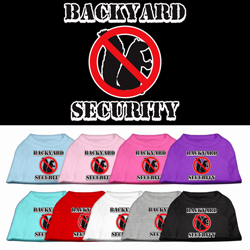 Backyard Security Screen Print Pet Shirts