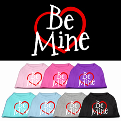 Be Mine Screen Print Pet Shirt