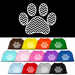Chevron Paw Screen Print Pet Shirt