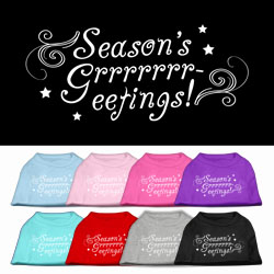 Seasons Greetings Screen Print Pet Shirt