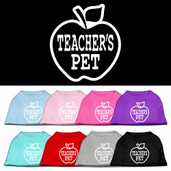 Teachers Pet Screen Print Pet Shirt