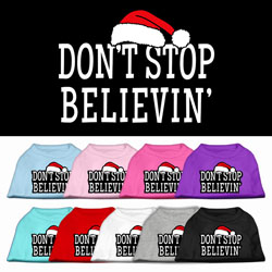 Don't Stop Believin' ScreenPrint Pet Shirts