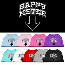 Happy Meter Screen Printed Dog Shirt