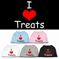 I Love Treats Screen Print Pet Shirts