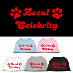 Local Celebrity Screen Print Pet Shirts