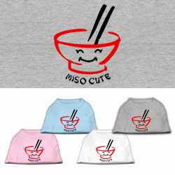 Miso Cute Screen Print Pet Shirts