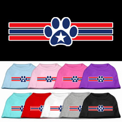 Patriotic Star Paw Screen Print Pet Shirts