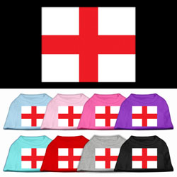 St. George's Cross (English Flag) Screen Print Pet Shirt