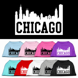 Chicago Skyline Screen Print Pet Shirt