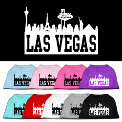 Las Vegas Skyline Screen Print Pet Shirt