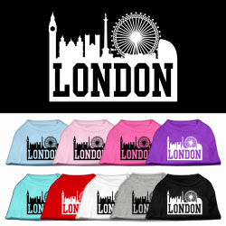 London Skyline Screen Print Pet Shirt