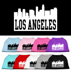 Los Angeles Skyline Screen Print Pet Shirt