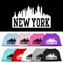 New York Skyline Screen Print Pet Shirt