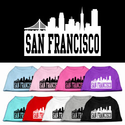 San Francisco Skyline Screen Print Pet Shirt