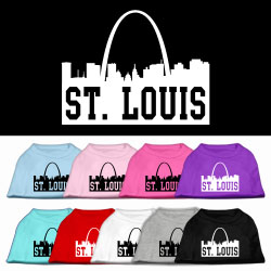St Louis Skyline Screen Print Pet Shirt