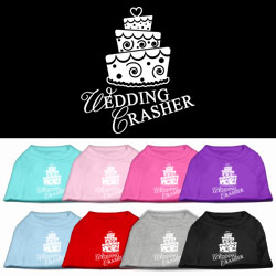 Wedding Crasher Screen Print Pet Shirt