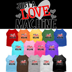 Love Machine Screen Print Dog Shirt