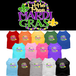 Miss Mardi Gras Screen Print Mardi Gras Dog Shirt