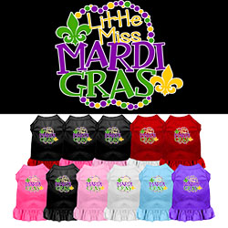 Miss Mardi Gras Screen Print Mardi Gras Dog Dress