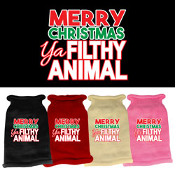 Ya Filthy Animal Screen Print Knit Pet Sweater