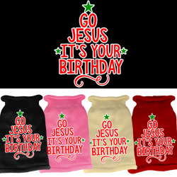 Go Jesus Screen Print Knit Pet Sweater