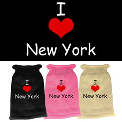 I Love New York Screen Print Knit Pet Sweater