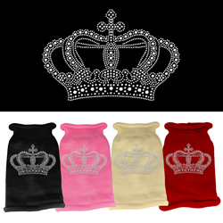 Crown Rhinestone Knit Pet Sweater