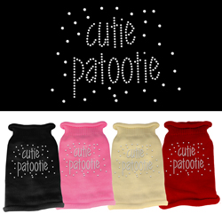 Cutie Patootie Rhinestone Knit Pet Sweater