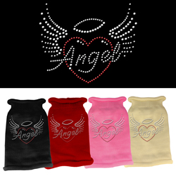 Angel Heart Rhinestone Knit Pet Sweater