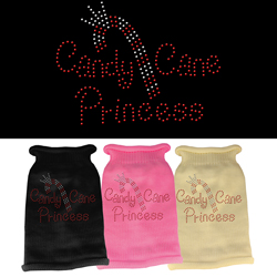 Candy Cane Princess Knit Pet Sweater