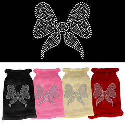 Bow Rhinestone Knit Pet Sweater