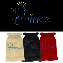 Prince Rhinestone Knit Pet Sweater
