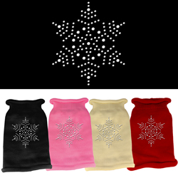 Snowflake Rhinestone Knit Pet Sweater