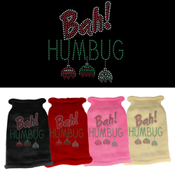 Bah Humbug Rhinestone Knit Pet Sweater