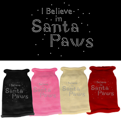 I Believe in Santa Paws Rhinestone Knit Pet Sweater