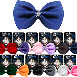 Silver Star Widget Pet Bowtie