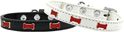 Red Bone Widget Dog Collar