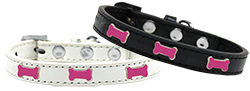 Pink Bone Widget Dog Collar