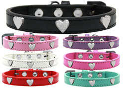 Silver Heart Widget Dog Collars