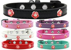 Red Rose Widget Dog Collars