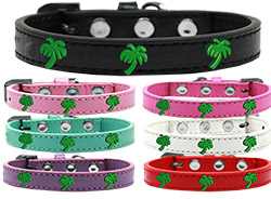 Green Palm Tree Widget Dog Collar