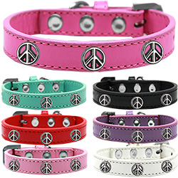 Peace Sign Widget Dog Collar