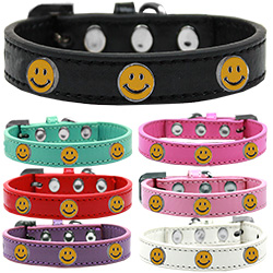 Happy Face Widget Dog Collar