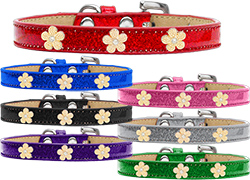 Gold Flower Widget Ice Cream Dog Collar