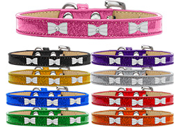 White Bow Widget Ice Cream Dog Collar