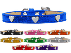 Silver Heart Widget Ice Cream Dog Collars