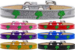 Green Palm Tree Widget Ice Cream Dog Collar