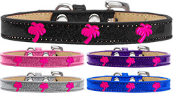 Pink Palm Tree Widget ice cream Dog Collar